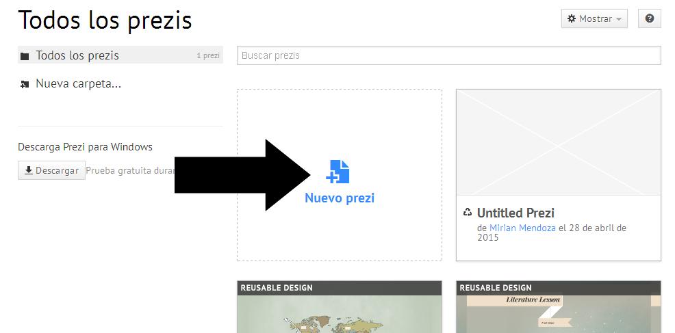 Cómo crear una presentación en Prezi |